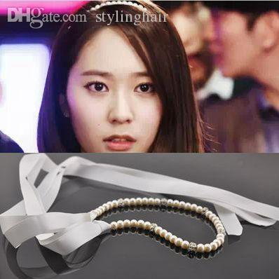 Wholesale New Korean Hair Jewelry Handmade Beaded Pearls Headbands Hair  Accessories Pearl Headband Hair Band Ribbon Hairwear Hair Accessories For  Wedding ... 14e6243f9ee