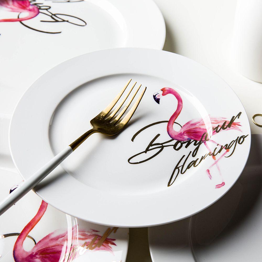 Bonjour Flamingo Ceramic Plate Instagram Round Steak Plate 8 Inch 10 Inch China Bone Soup Plate High Quality Steak Plates China Ceramic Plate Suppl Cheap ...  sc 1 st  DHgate.com & Bonjour Flamingo Ceramic Plate Instagram Round Steak Plate 8 Inch 10 ...