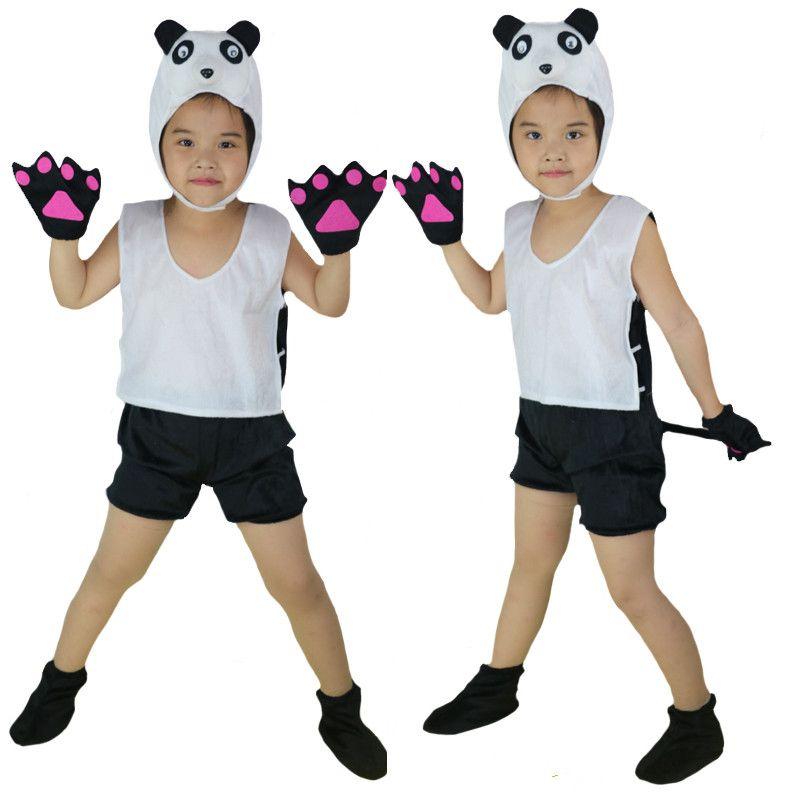 Kids Children Cosplay Animal Theme Costume Chicken Pig Bee Panda Lion Horse Milk Bird Short Sleeved Clothing Birthday Party Gift