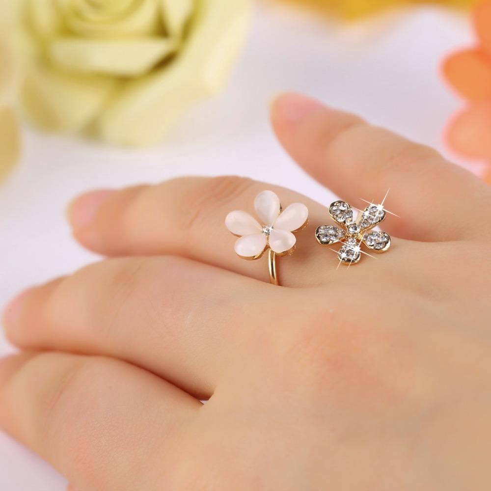2018 2016 new fashion jewelry crystal plant flower ring pearl daisy 2018 2016 new fashion jewelry crystal plant flower ring pearl daisy rings petals ring adjustable rhinestone ring for women from laiff135159 909 dhgate izmirmasajfo