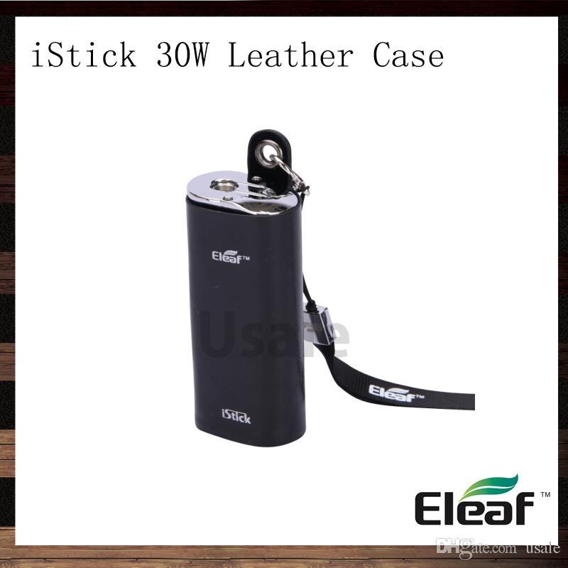 Eleaf iStick 30W Custodia in pelle iStick eCig Custodia da trasporto Custodia Custodia eGo Lanyard iStick 30W Mod Batteria 100% Originale