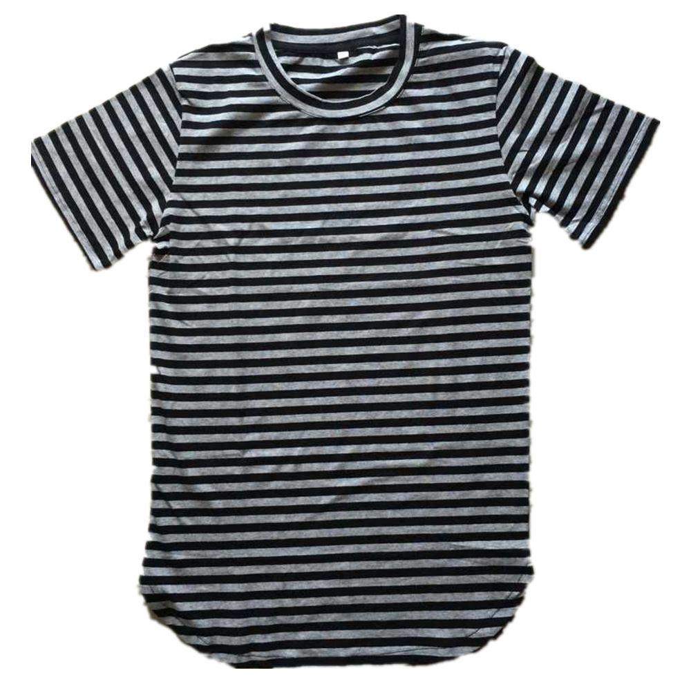 Men T Shirt Long Sleeve Harajuku Hip Hop Striped Tee Shirts Mens ...