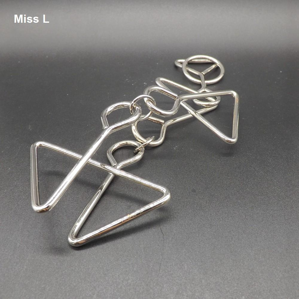 Iq Test Toys Mind Game Brain Teaser Triangle Metal Wire Puzzles ...