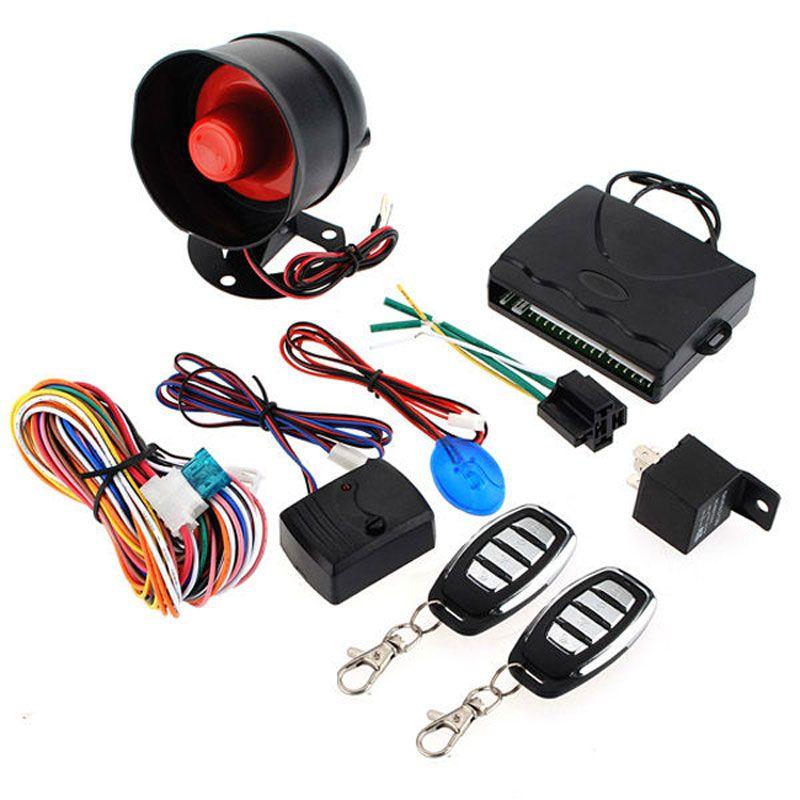 Предупреждение автомобиля сигнализация система безопасности Keyless вход замок двери автоматизация Сирена 2 пульт дистанционного управления анти Theift угон CAL_601