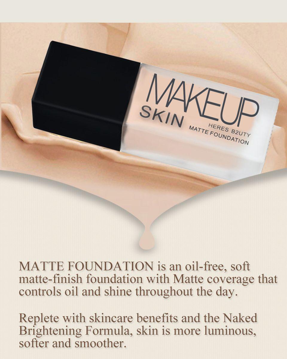 Maquillaje Base Líquida Mate Base Sin Aceite Nake Brighten Base Duradera Corrector Impermeable Natural Foundaton Maquillage 30ML