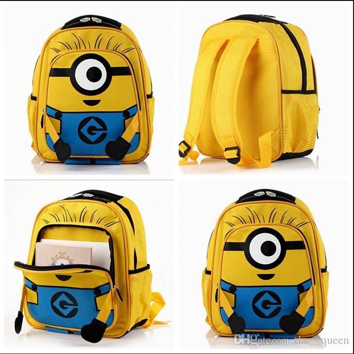 Minion Backpack Cute Baby Kids Cartoon School Bags Minions Bag ...