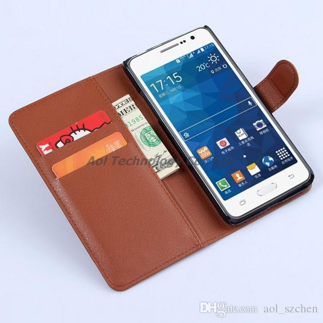 High Quality Galaxy Grand Prime Leather Case Luxury Wallet Credit Card Stand Skin Cover for Samsung Galaxy g5308 gful