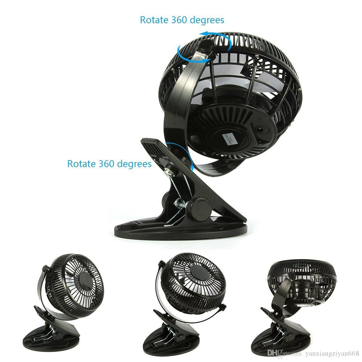 Clip on Mini Desk USB Fan, 2-Mode Speed 360 Degree Rotation Silent Cooling Cooler Electric Fan for Home Office Baby Car Laptop YX-FS-1