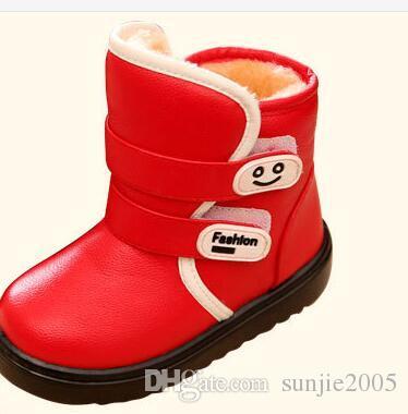89ed0c65014ed Acheter 2018 Nouvelle Hiver Enfants Bottes De Neige Pour Les Filles De Botte  De Fourrure De Mode Enfants Chaussures Garder Chaud Tout Petits Fille En  Cuir ...