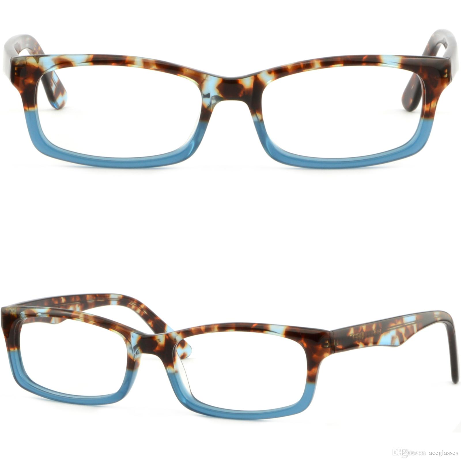 Rectangle Men\'S Women\'S Plastic Acetate Frame Prescription Glasses ...