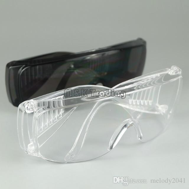 Óculos de Segurança Anti-Riscado Grande Quadro Óculos de Segurança À Prova de Poeira À Prova de Vento-Trabalho de Trabalho de Proteção Preto E Branco Navio Livre