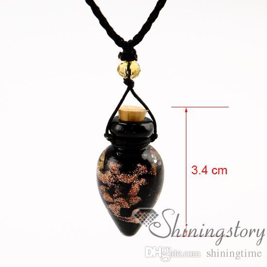collar de aceite esencial de perfume al por mayor de pequeñas botellas de aceite de difusión collar aromaterapia joyería difusor difusor mayor collar diff
