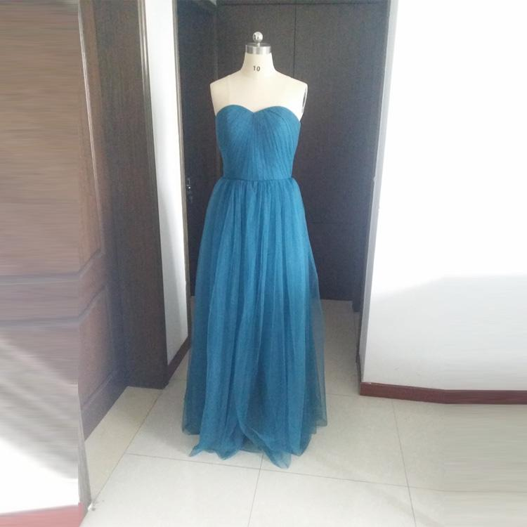 Ink Blue Soft Tulle Bridesmaid Dresses Sweetheart Strapless ...