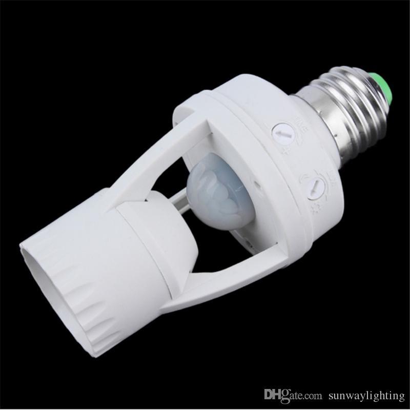 2017 New New E27 PIR Induction Infrared Motion Sensor LED Lamp Base