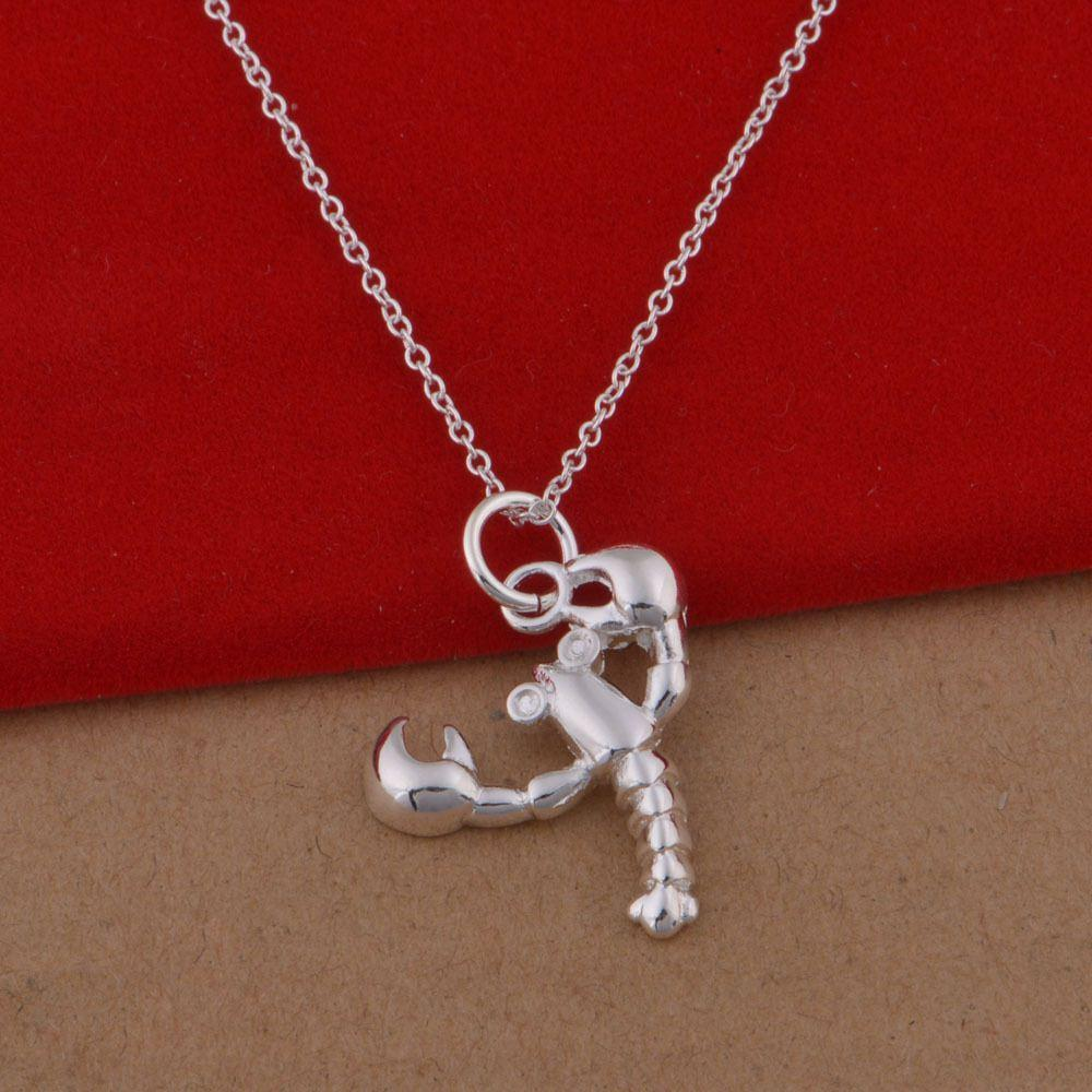 Wholesale 925 sterling silver necklace korean popular scorpio undefined aloadofball Images