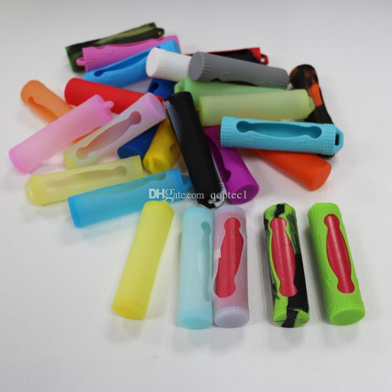 available silicone 18650 battery case rechargeable 18650 silicone rubber holder protection silicone case skin cover bag