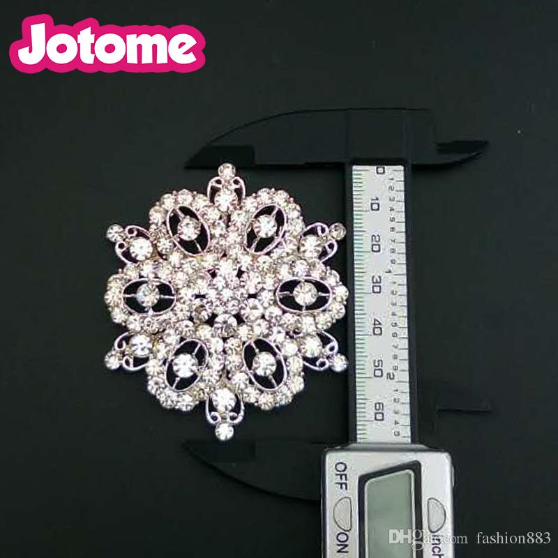 wholesale fashion jewelry Bride Corsage accessories large full crystal rhinestone flower button for wedding bridal bouquet