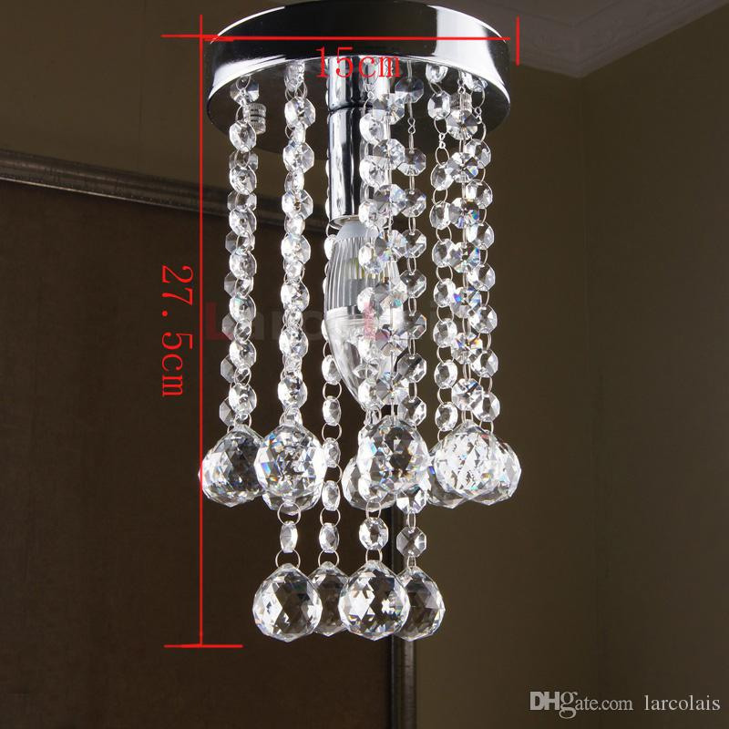 Modern crystal chandelier light fixture small clear crystal lustre modern crystal chandelier light fixture small clear crystal lustre lamp with 1 led light d15cm h275cm crystal light chandelier led lamp online with mozeypictures Images