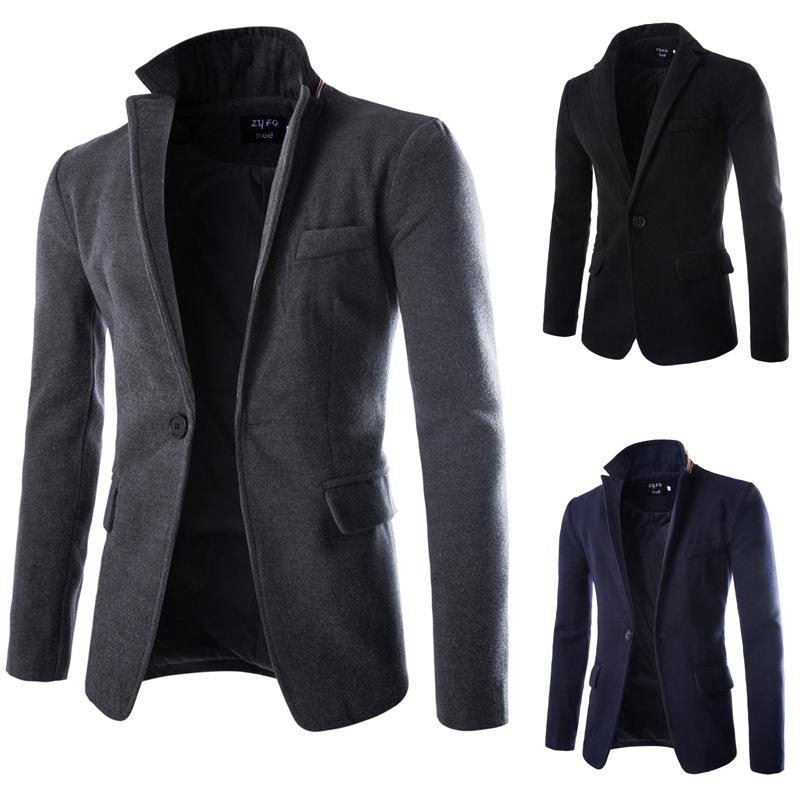 Trade New Men Slim Small Suit Leisure Suit Men S Wool Coat Nepal