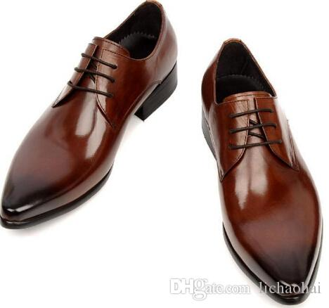 new arrival luxury men dress shoes hand made genuine leather wedding
