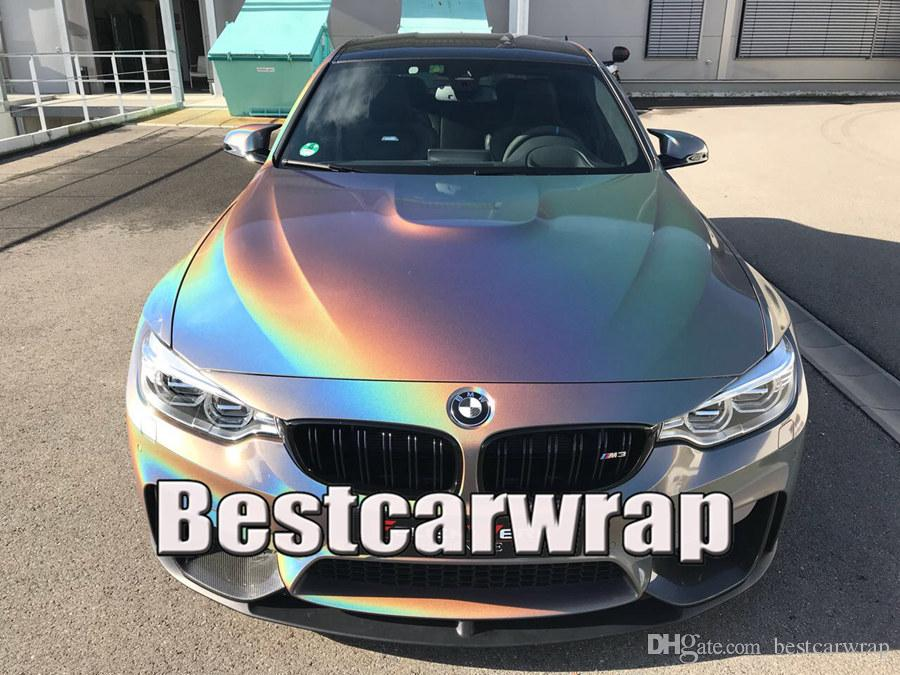 2019 Psychedelic Gloss Flip Vinyl For Car Wrap With Air Bubble Free