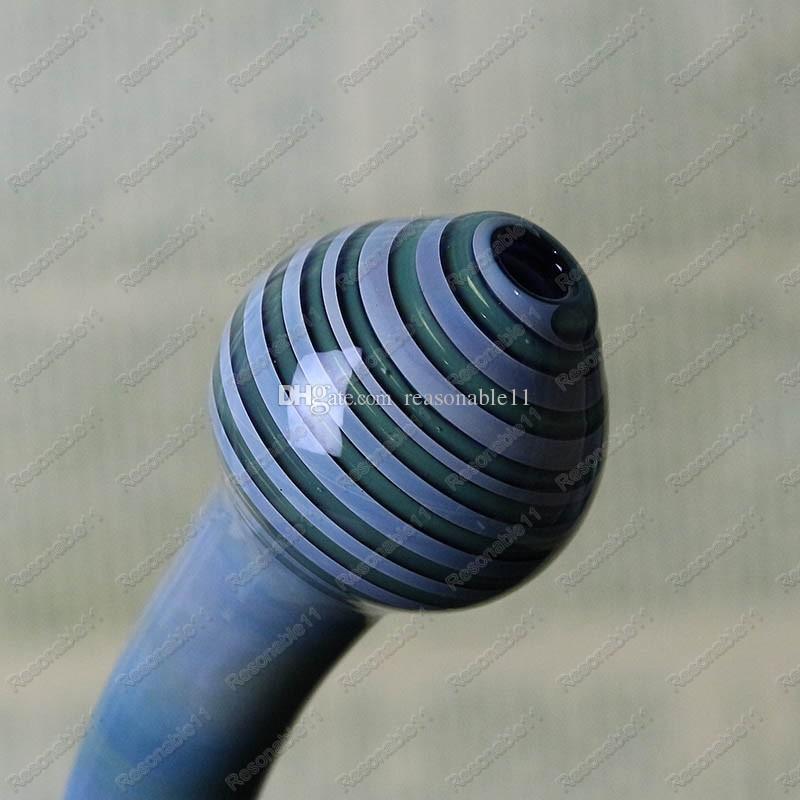 Bong in vetro a due funzioni Tubi dell'acqua Lampada a forma di olio Rig Lavoro e arte con stampa sprial