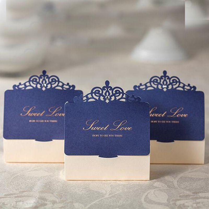 Debenhams Wedding Service Gift List Number: Creative Wedding Ceremony Candy Boxes Dark Blue With