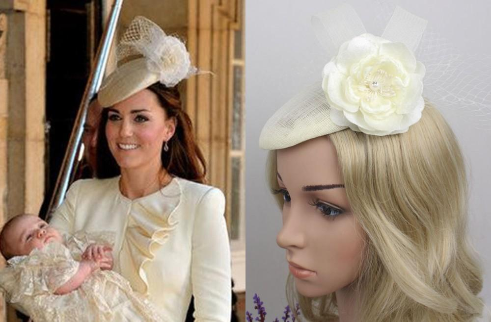 Kate Middleton Hat Bridal Hats Sinamay Fascinator Hat On Party Church  Wedding Sinamay Kentucky Derby Hats New Hats Women Fashion Bridesmaid Hat  Hat With ... 015e4ee7cf5