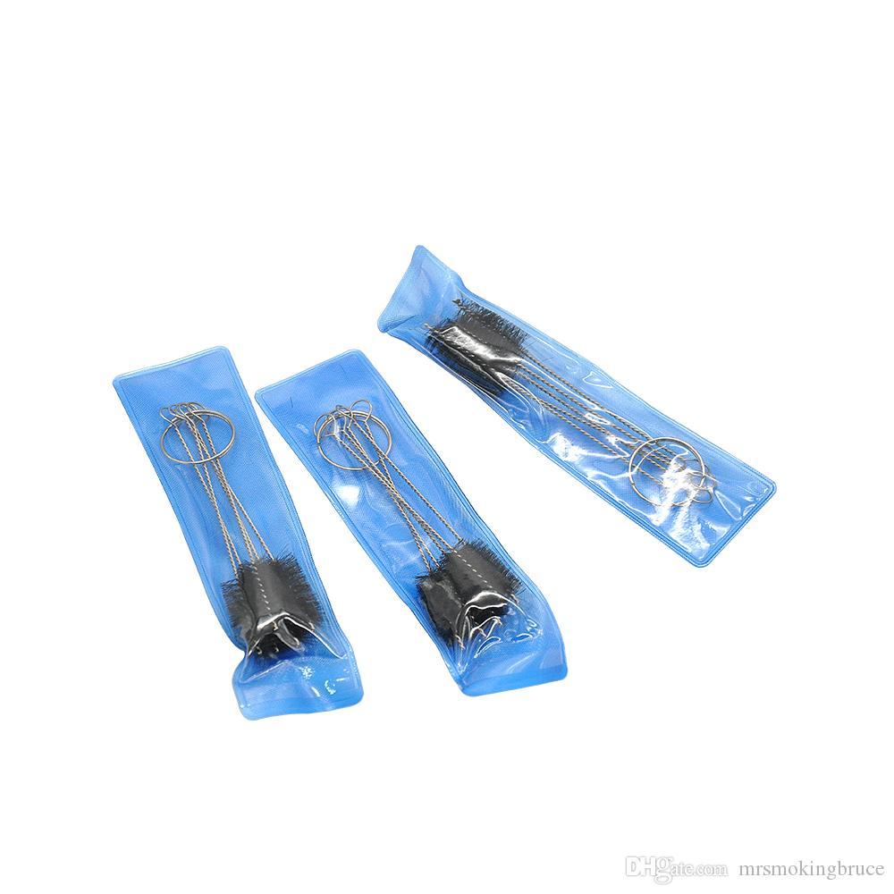 Kleine Pinselset 5 Mini-Bürsten-Kit-Verdampfer-Vape-Rohr-Hukahn-Tätowier-Spray für Glas-Bubbler-Tabak-Rauchspilz-Shisha-Huka