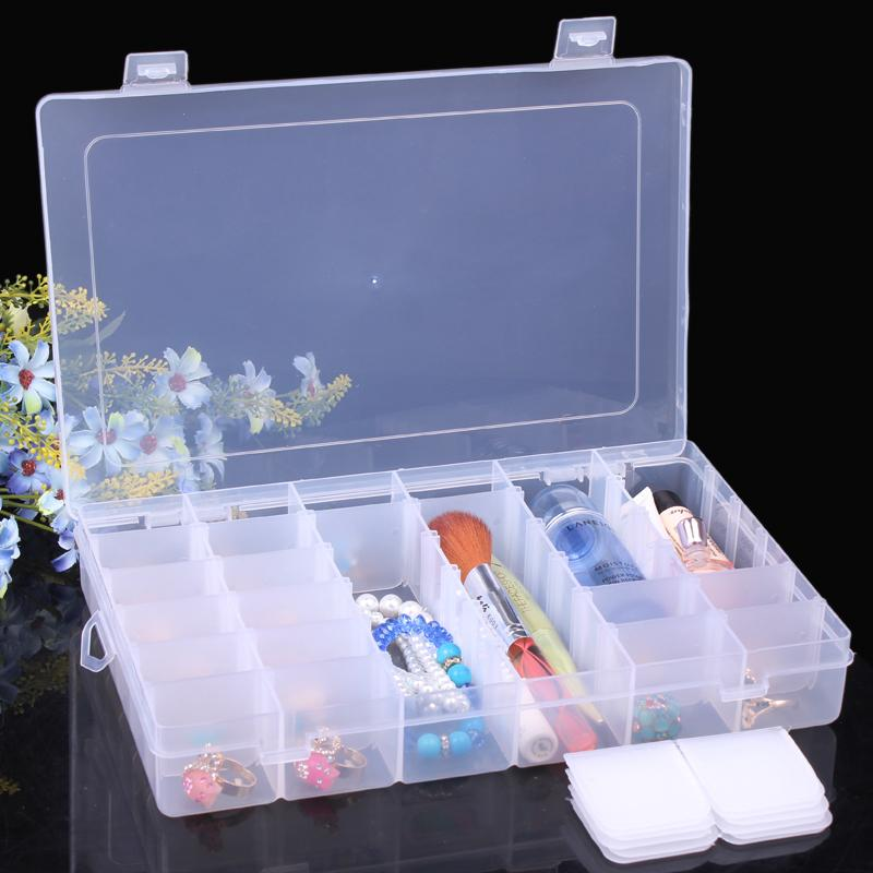 2018 Clear Plastic Beads Earring Jewelry Packaging Boxes Nail Art