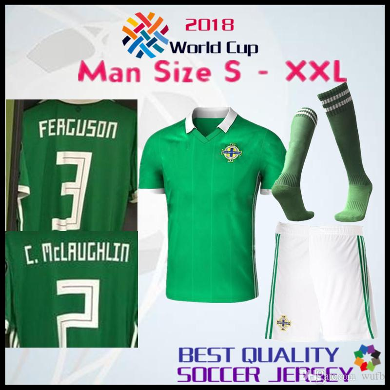 2321141dc 2018 Northern Ireland World Cup Adults Soccer Jersey McNAIR Home ...