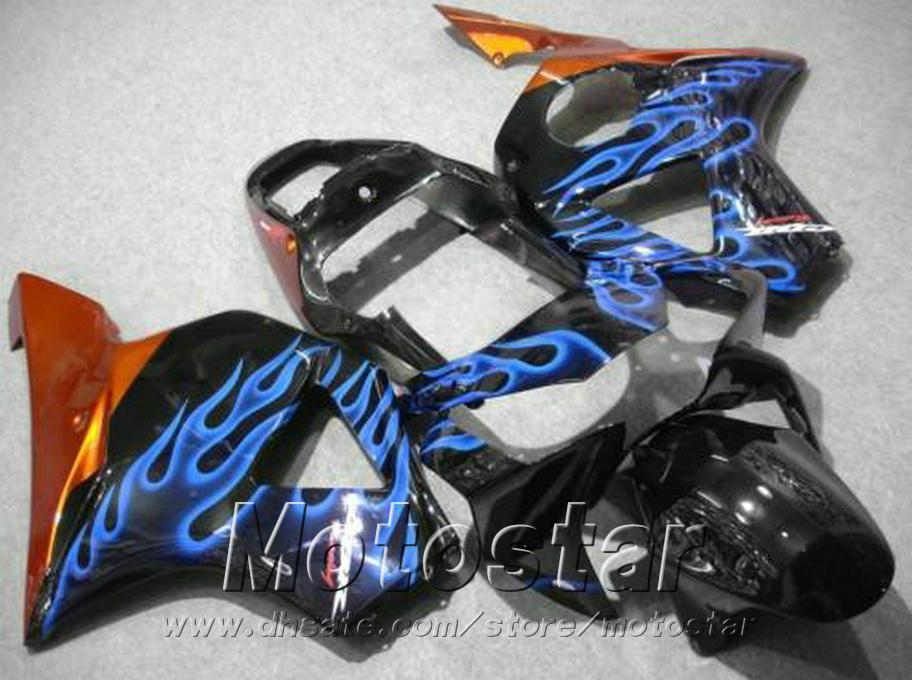 Fusioni iniezione carenature Honda cbr900rr 954 2002 2003 fiamme blu nero CBR900 954RR kit carenatura freeship CBR954 02 03 YR37