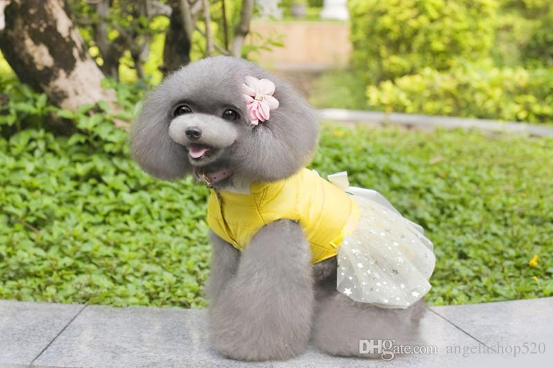 Factory sale dog supplies pet apparel wholesale dog winter clothes female TEDDY dresses for girl puppy dog