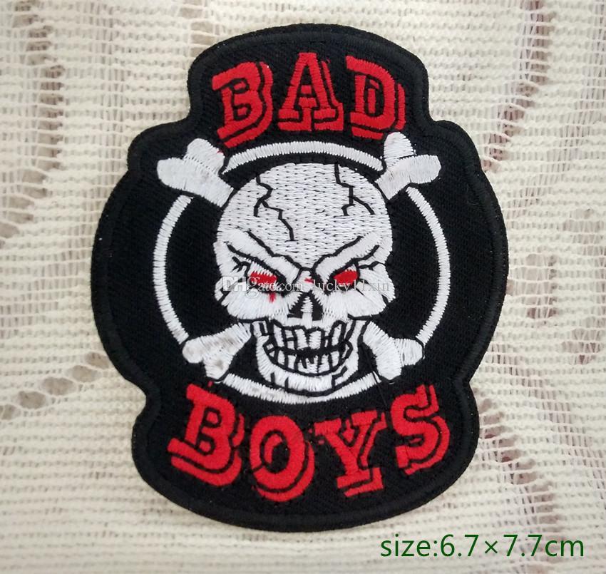 Boys Bad De Moto Veste Motard Acheter Crâne Crossbones Sur Fer Logo C5wxFqgZ
