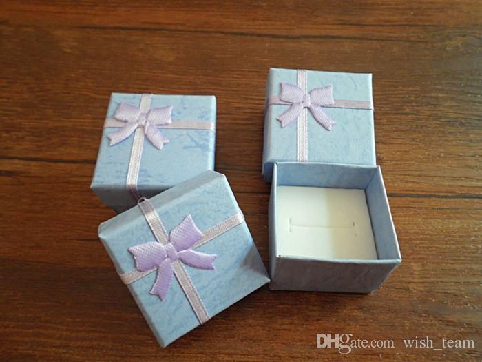 الجملة 50 قطعة / الوحدة ساحة الطوق حلق قلادة المجوهرات مربع هدية حامل القضية الحالية مجموعة W334