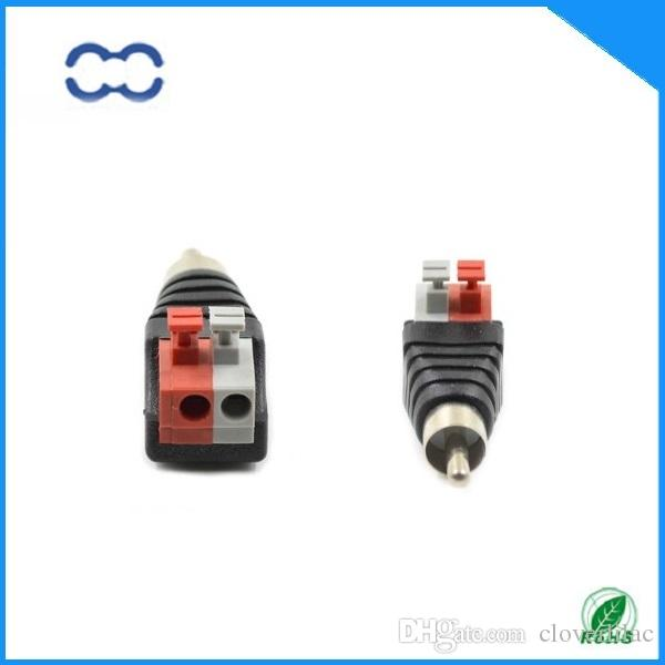 Connecteur RCA mâle nickelé de bonne qualité et audio RoHS pour câble audio