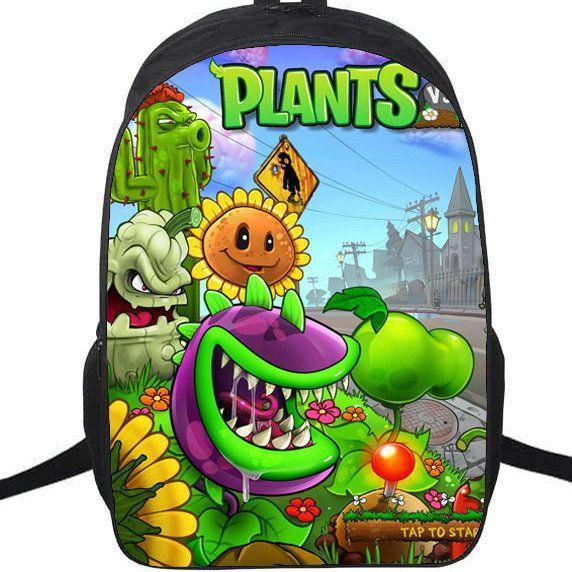Hot Play Backpack Plants Vs Zombies School Bag PVZ Daypack Game ... 938d6b2615