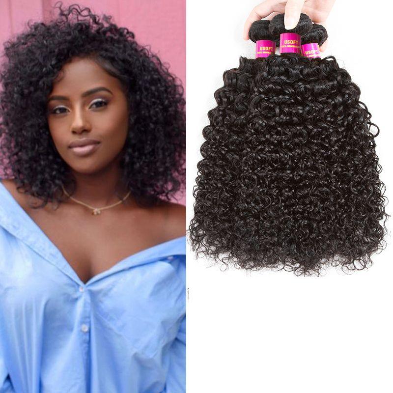 Peruvian Kinky Curly Hair Bundles 100 Remy Human Hair Extension