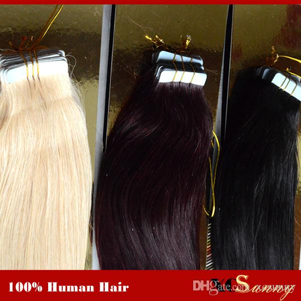 Xcsunny Tape In Hair Extension Remy 18 20 100g Skin Weft Hair