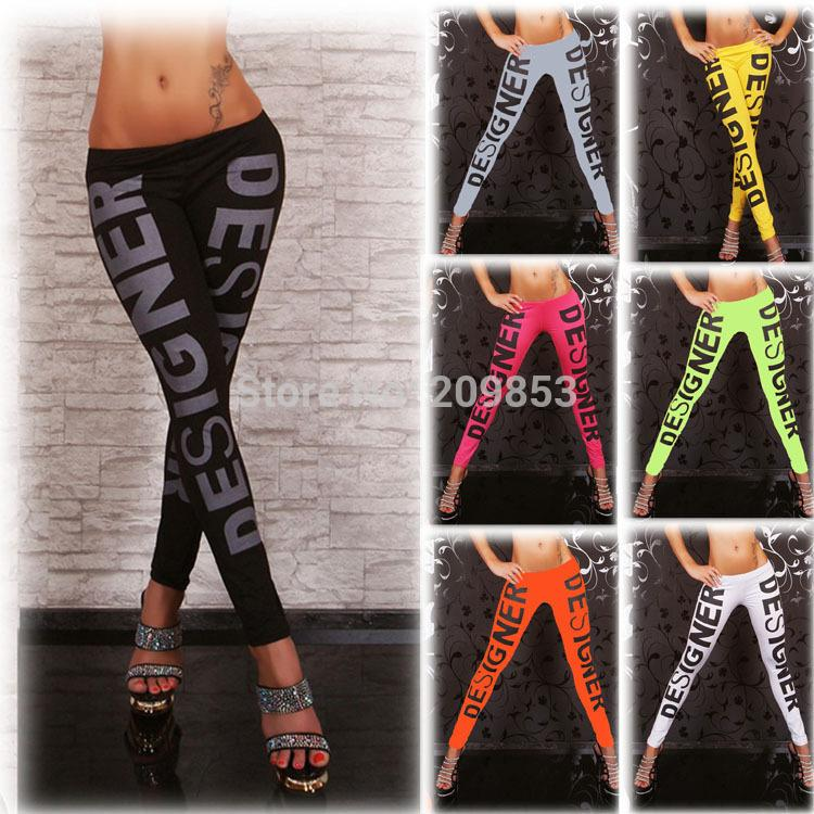 2018 W1028 Sexy Leggings Fashion Designer Color Fluorescent Skin Tight Trousers Panty Leg From Shen07 1348