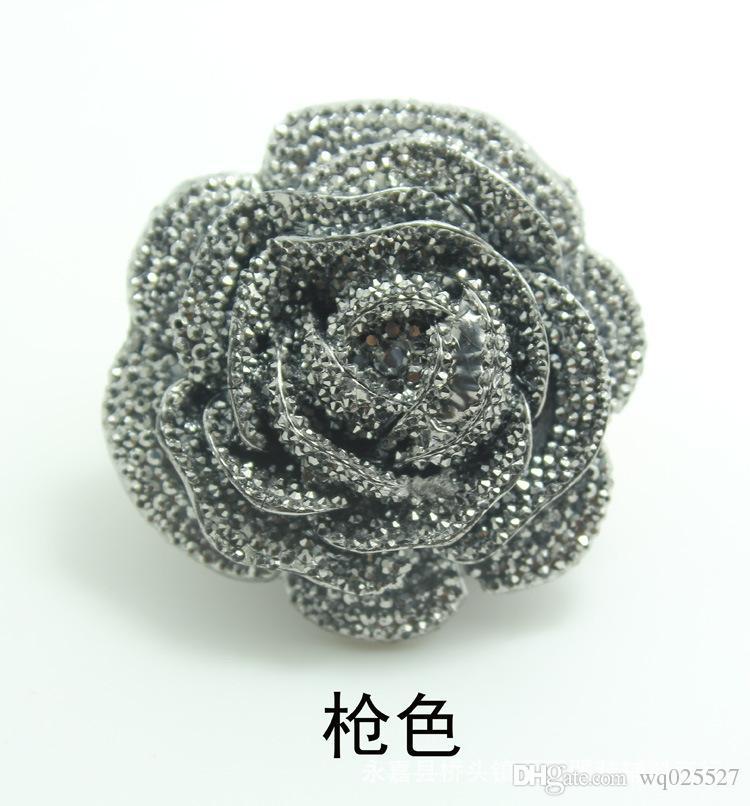 10 unids / lote botones de resina de alta calidad botones color de rosa adorno elaboración de DIY