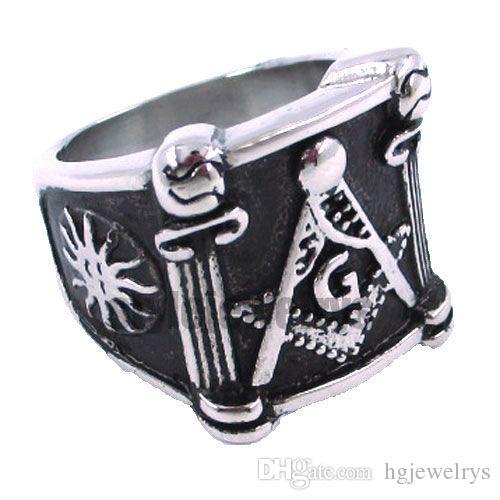 ! Sun Masonic Ring Stainless Steel Jewelry Ring Classic Freemasonry Masonic Ring Motor ring SJR0019H