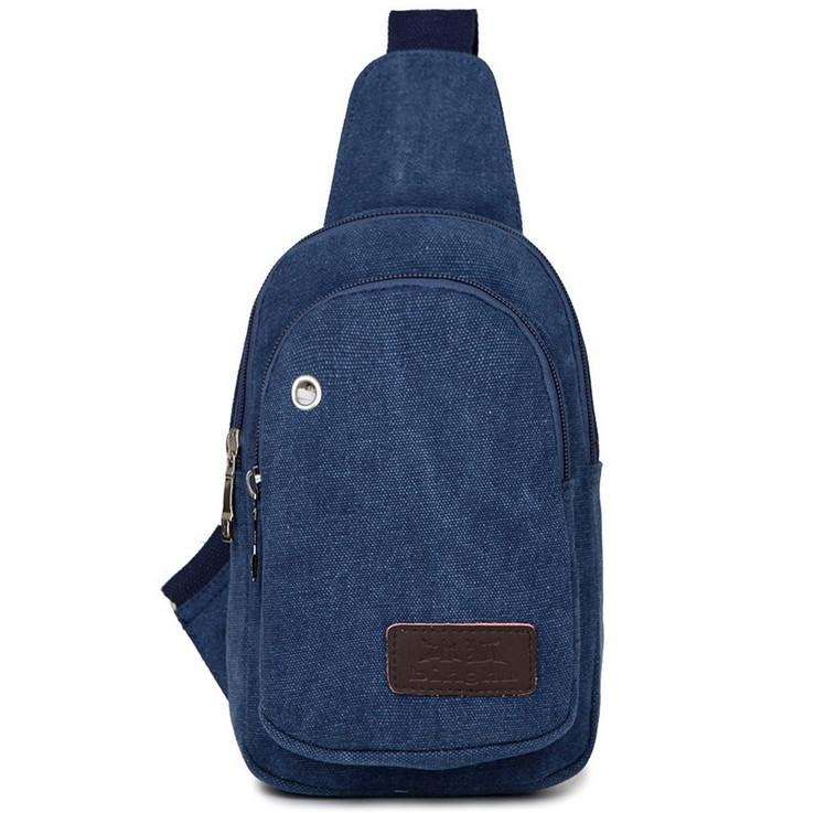 6d3800f1d4 New Casual Vintage Men Canvas Single Shoulder Bag Sling Pack Hiking  Traveling Retro Unbalanced Chest Messenger Male Bag Canvas Travel Bag Male Shoulder  Bag ...