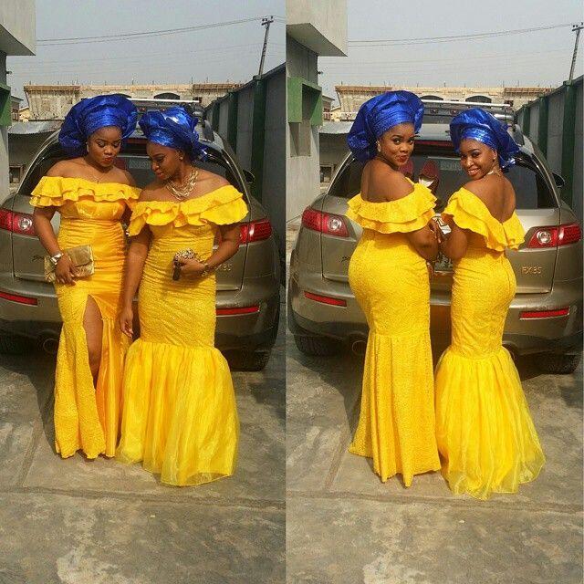 Aso Ebi bellanaija платья невесты Русалка вечерние платья боковой разрез с плеча декольте каскадные оборки нигерийские платья партии дешевые