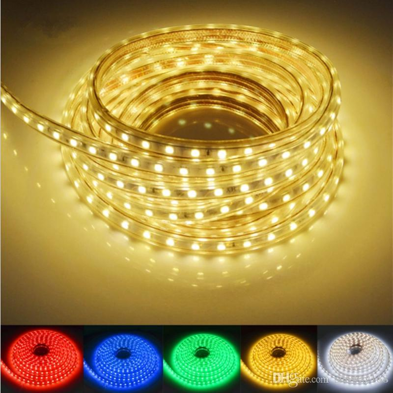 100m 110V 220V Led Strips smd 5050 LED rope light IP67 Flex LED Strip  lights Outdoor Lighting string Disco Bar Pub Christmas Party