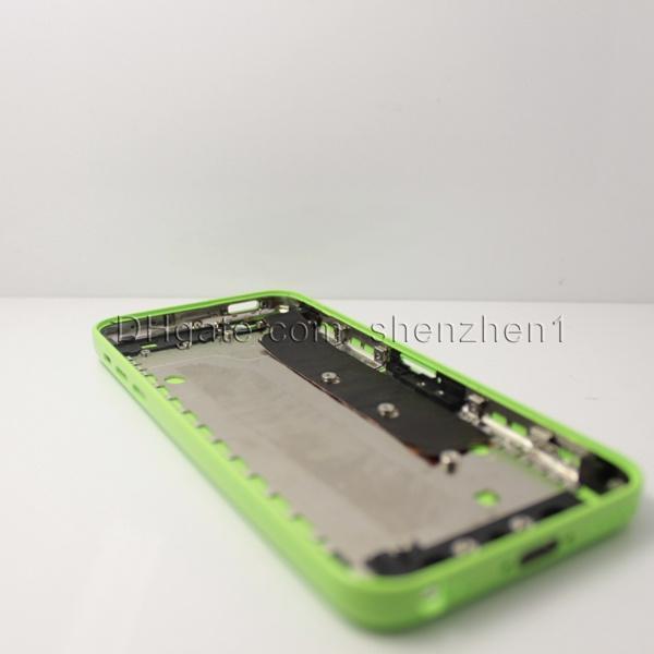 Carcasa del teléfono Carcasa trasera de la batería Carcasa de la batería Tapa de la puerta del teléfono inteligente Reemplazo de las piezas de la contraportada Carcasa de la contraportada para el iphone 5C SNP003
