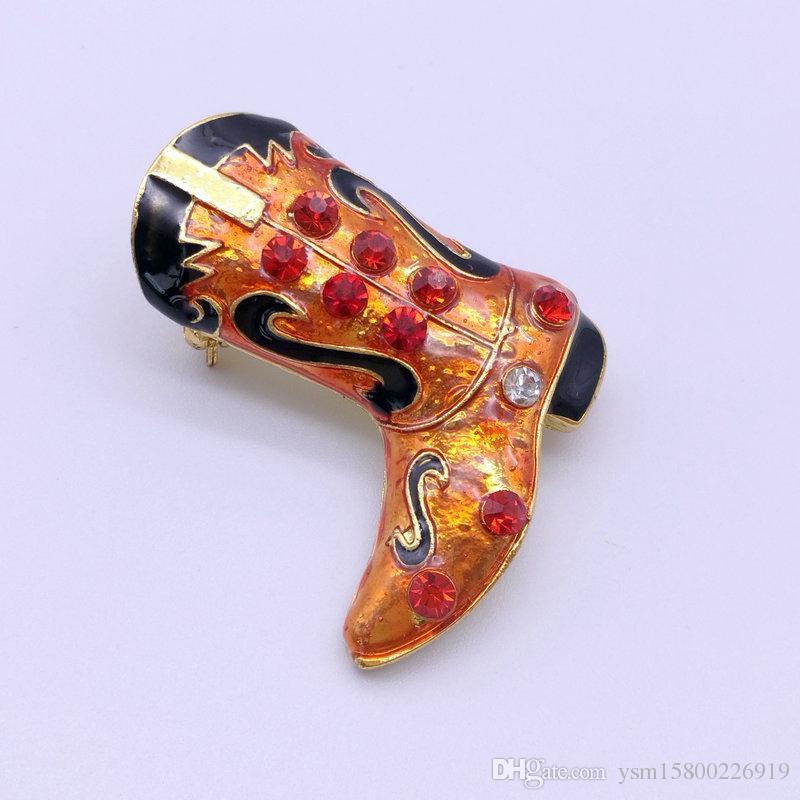 New-Jahr-Reihen-Metalltropfen-Band-Bohrgerät-Weihnachtsmann-Stiefel Doppelt-verwenden Sie Broschen-Schmuck-Geschenke Weihnachtsdekorative Broschen