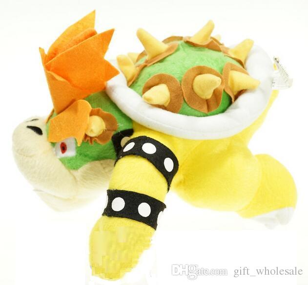 "Factory Direct Sales Super mario plush toy 10"" 25cm BOWSER Plush Doll Figure Toy Kids Birthday Party Gifts"