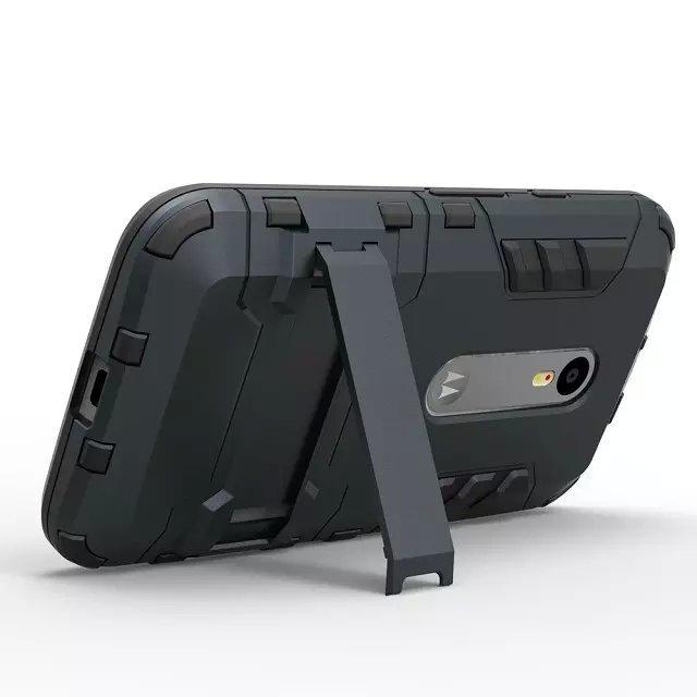 FOR LG G4 G5 G6 Q6 Q8 G7 ThinQ STYLO 4 K8 2018 EU VERSION Hybrid KickStand Anti Shock Defender Armor Case TPU+PC cover /