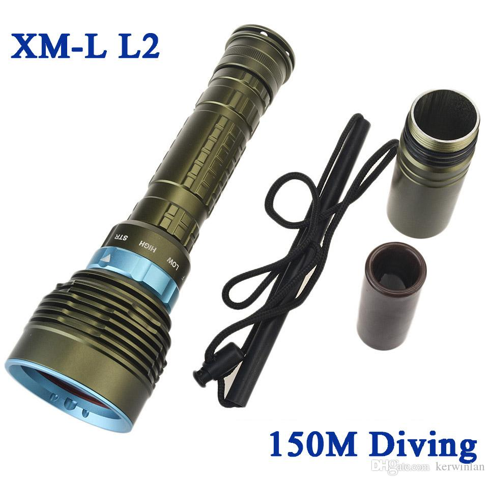 Led Flashlights Underwater Worklight Rechargeable Diving Flashlight 26650 Cree Xm L2 Led Lantern Waterproof Torch Flashlight 18650 Lampe Torche Led Lighting